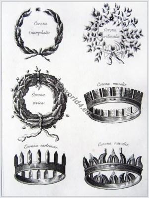 ancient, roman, crowns, wreaths