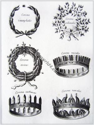 ancient, roman, crowns, wreaths