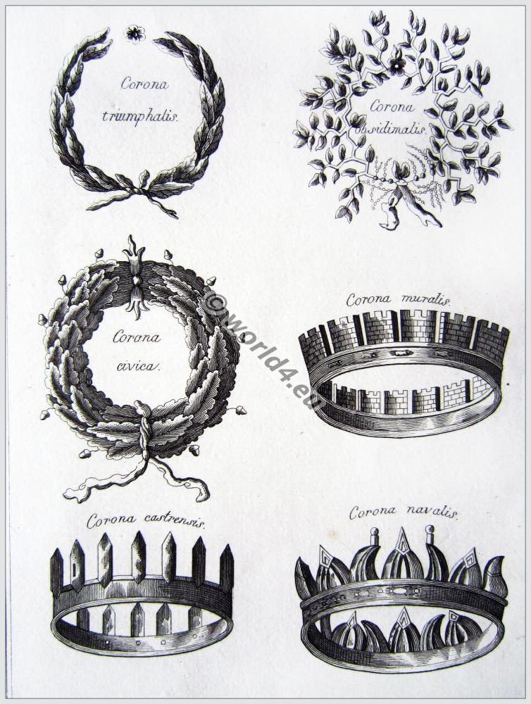 roman fashion history, ancient, rom, crowns, wreaths