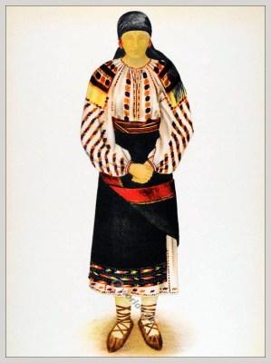 Tărancă din Suceava, Bucovina.