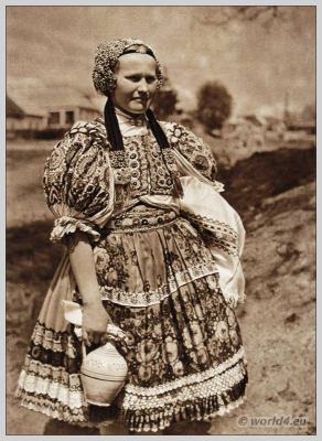 Woman from Ábelová in Slovakia national costume