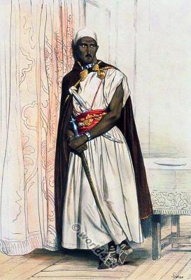 Traditional Arab dress. Arabian Nobelman clothing. Saracen Muslim costume