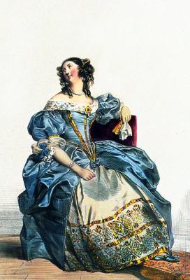 Louis XIV fashion. Court dress. Modes French Ancien Régime. 17th century costumes