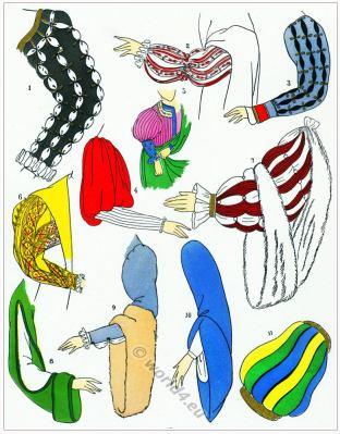 Renaissance sleeves design. Manches. 16th century fashion.