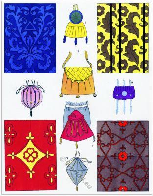 Renaissance fabric design. Les modes de la renaissance. Étoffes