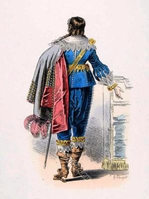 French Lord fashion. Baroque fashion. 17th century costumes.