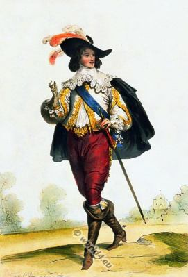 Musketeer, Officer, Baroque, Nobility, French, costume, fashion history, historical, dress, 17th century, Louis XIII