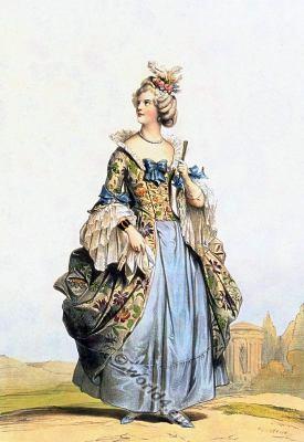Court dress. Baroque fashion. 18th century costumes. Fashion history. Costume design.