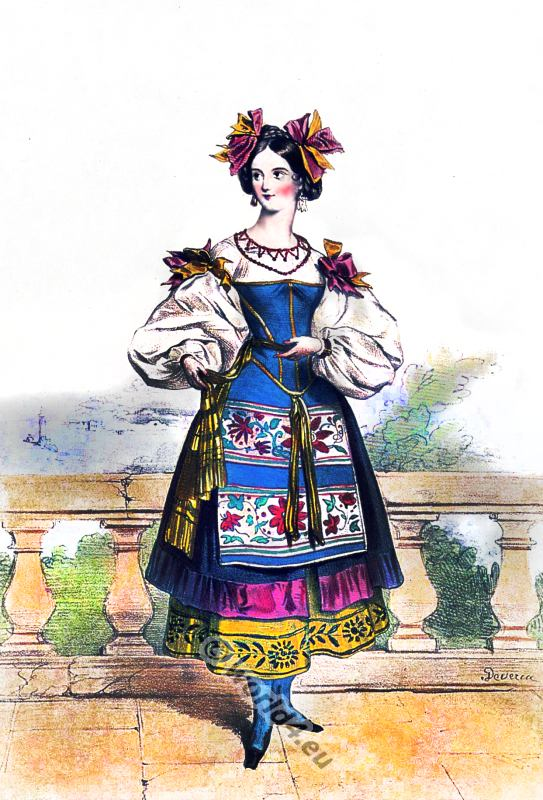 Naples, clothing, traditional, Costume, italiano, Neapolitan