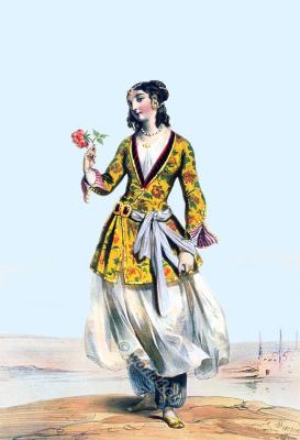 Persian female, Persia 19th century, Iran, historic,clothing,traditional,oriental,costume,dress,