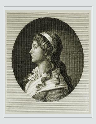 Jeanne-Marie Roland de La Platière. Madame Roland. French revolution. merveilleuses. directoire hairstyle.