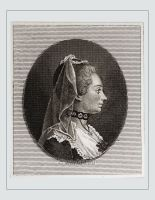 Jeanne Julie de Lespinasse French Salonnière. Rococo hairstyle coiffeur. Famous woman 18th century