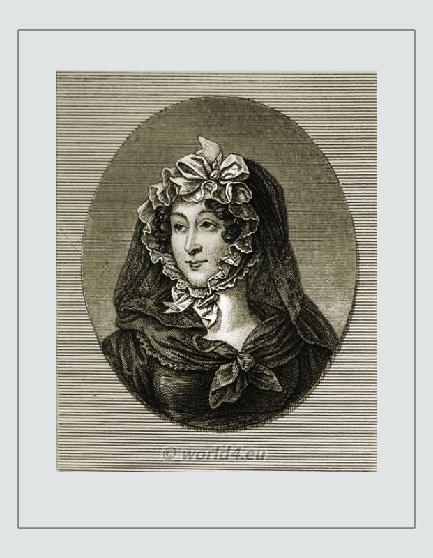 Marguerite Victoire Babois. French woman writer. Early feminist, femme fatale. Empire fashion