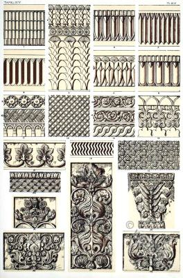 Costume History. Ancient Assyrian column ornaments.