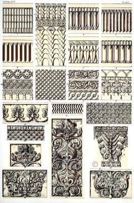 decoration, Ancient, Assyria, column, ornaments