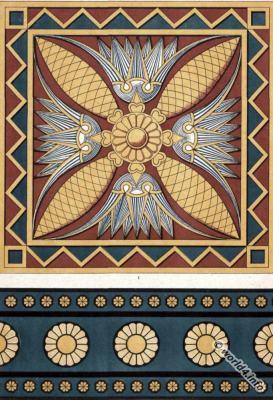 Chorsabad, brick, Low-relief, Assyria, art, Ornaments,
