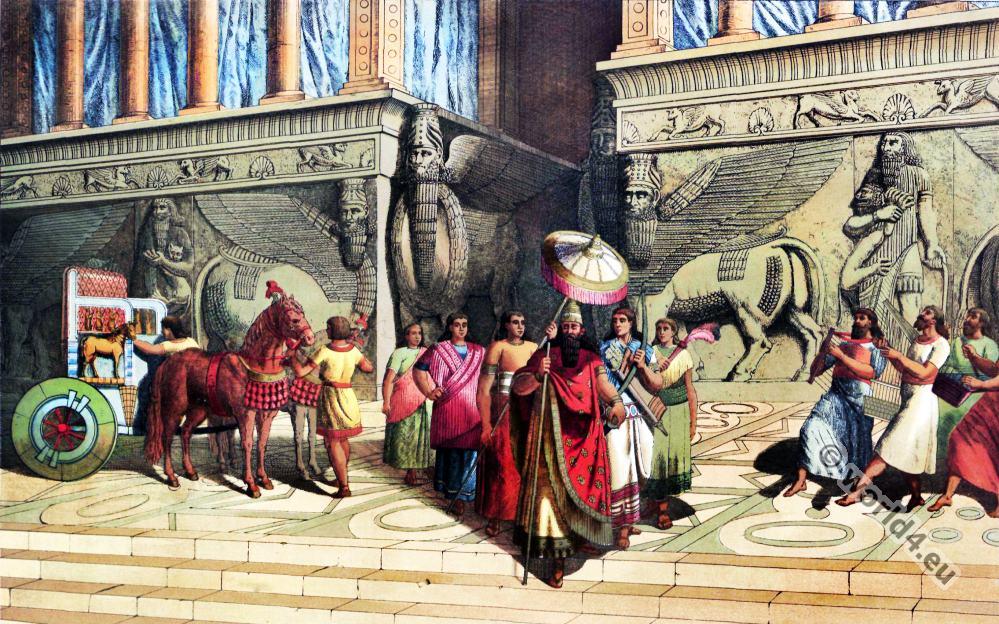 Assyrian, Babylonian costume history. Mesopotamia ...