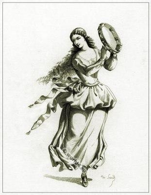 Commedia dell'arte Theater Dance Costume La Ballerina, Masques et bouffons, Actors of the comédie italienne.