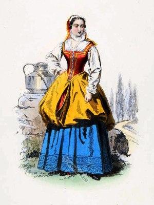 baroque, Milkmaid, costume, 17th Century, Bagnolet, fashion history