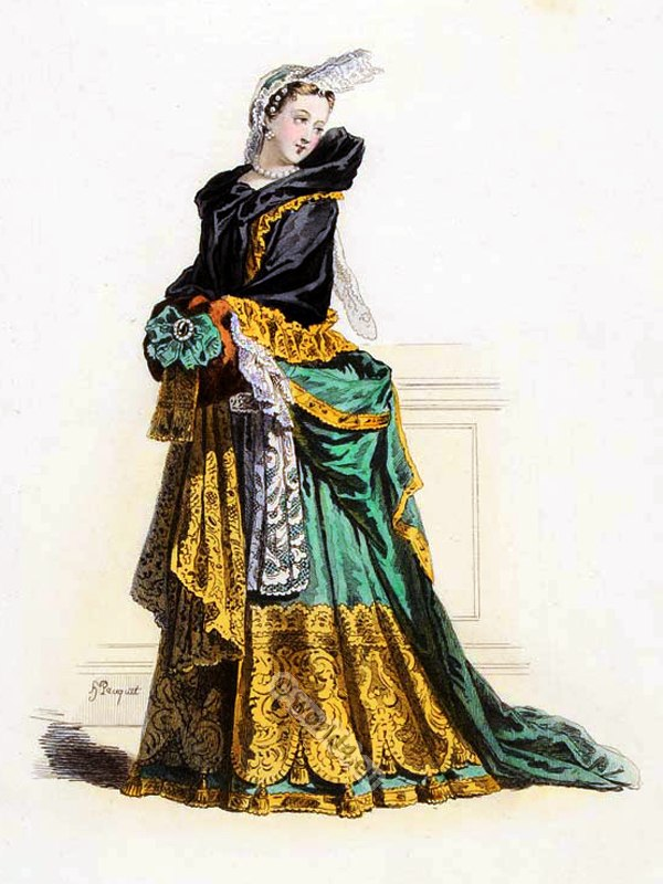 Reign louis xiv french fashion history costume history for Baroque design clothes