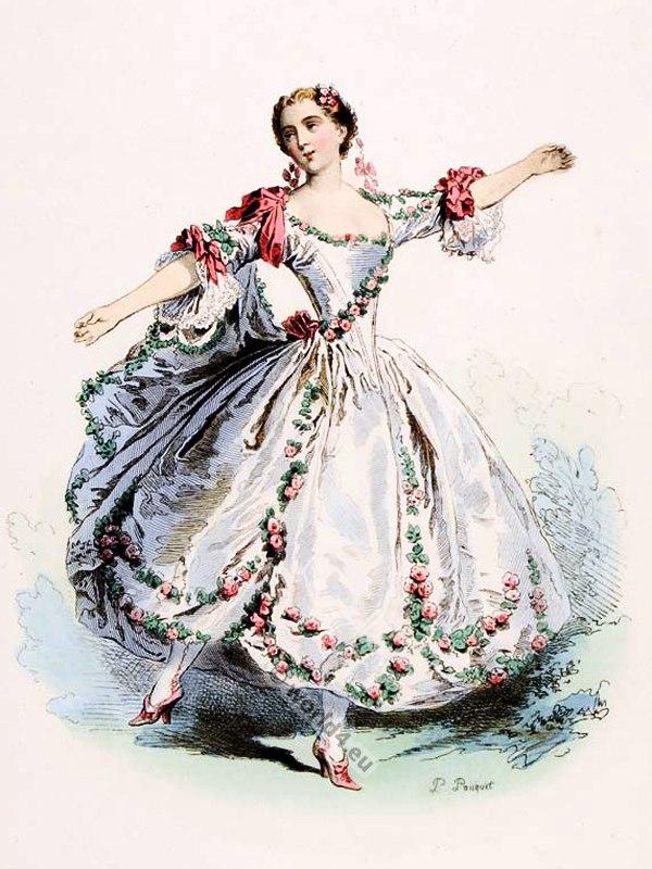 Marie Camargo Opera Dancer Ballerina In 1730 Costume