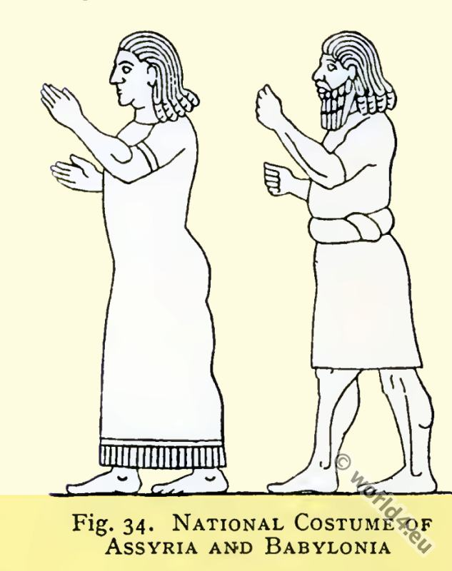 National costumes of Assyria and Babylonia