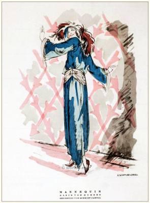 German Art deco costumes 1920s. Roaring twenties fashion. Gibson Girls clothing. STYL Fashion Magazine.