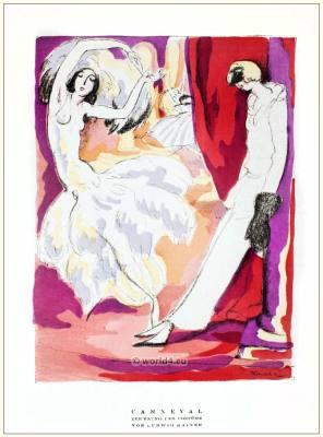 German Art deco costumes CARNIVAL 1920s. Roaring twenties fashion. Gibson Girls clothing. STYL Fashion Magazine.