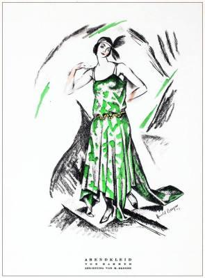 German Art deco costumes 1920s. Roaring twenties fashion. Gibson Girls clothing. STYL Fashion Magazine. Vintage dresses.