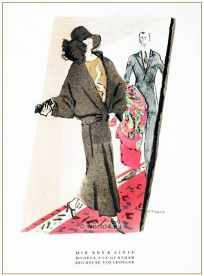 The New Line. STYL Art Déco Fashion Magazine. German Art deco costumes 1920s. Roaring twenties fashion. Gibson Girls clothing.
