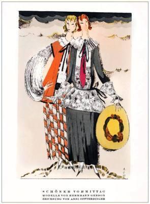 Models of Herrmann Gerson. STYL Art Déco Fashion Magazine. German Art deco costumes 1920s. Roaring twenties fashion. Gibson Girls clothing.