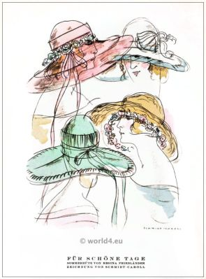 Regina Friedländer, Summer hats, fashion, designer, jewish, berlin, 1920s