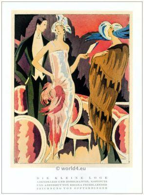 Regina Friedländer, Evening gown, fashion, designer, jewish, berlin, 1920s