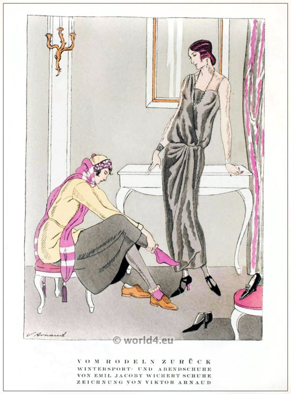 Emil Jacoby, Viktor Arnaut, fashion, designer, jewish, berlin, 1920s, art deco,