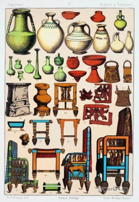 ancient, Assyria, Babylonia, pottery,furnitures