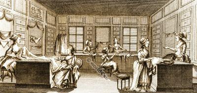 The Grand Moghul. Paris fashion shop. Rose Bertin