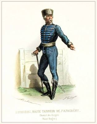 A captain Jászsági viselet clothing. Traditional Hungary costume. Hungarian Folkdress
