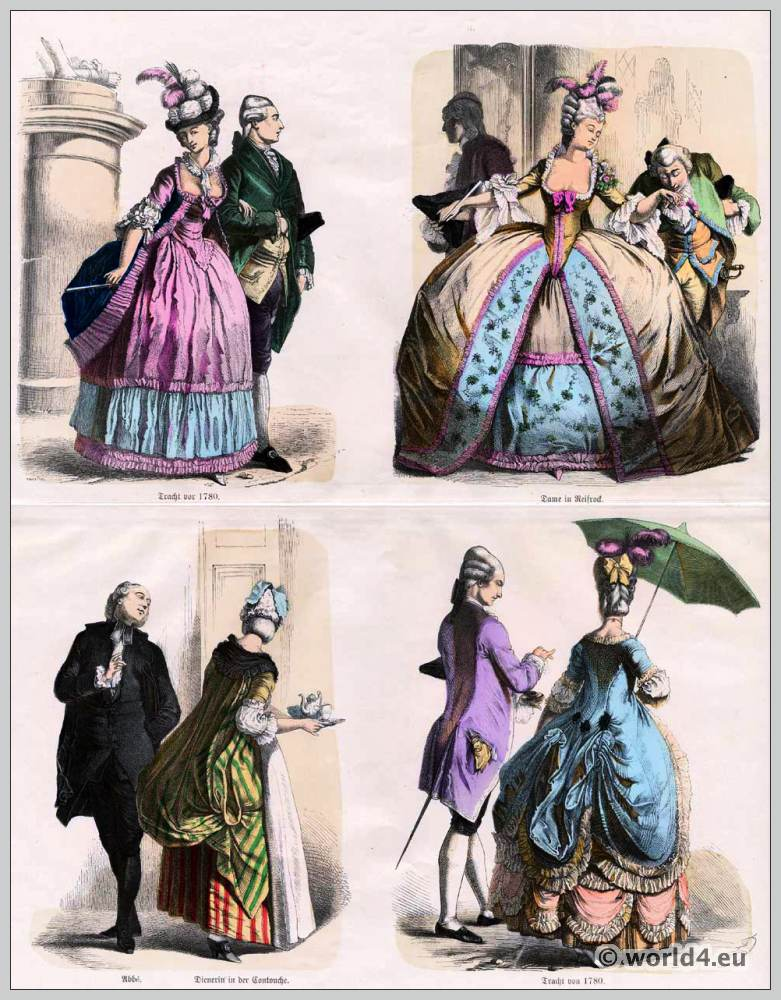 History of costumes from ancient until 19th c costume for French rococo fashion