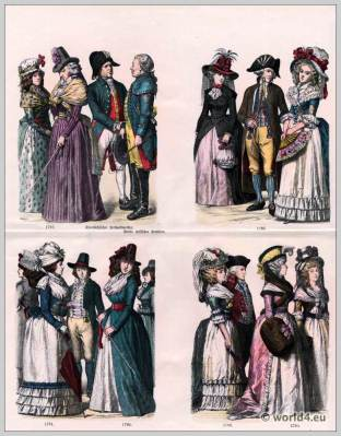 German fashion in the 18th century.