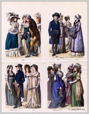 Germany, fashion, costumes, c18th, century,