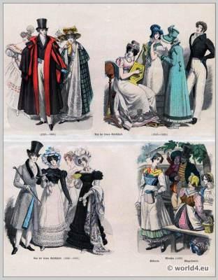 Costumes, Historic, German, Biedermeier, period, fashion, 19th century,