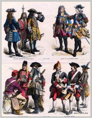 France and Austrian Military uniforms 18th century