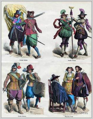 Germany, soldiers, uniforms, Baroque costumes, 17th century, fashion history