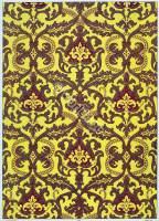 French baroque fabrics design. 17th century fabrics. Medieval textil design.