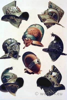 Ancient Roman Gladiator helmets