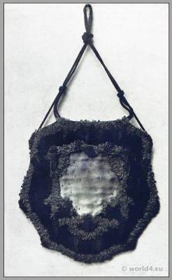 Art nouveau handbag design,Anna Somoff-Mikhailoff, Beadwork, Belle Époque,Edwardian fashion
