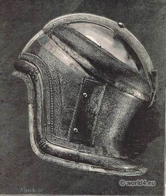 Boabdil, Moorish king. Saracen Helmet. Muhammad XII. weapons. Renaissance weapons
