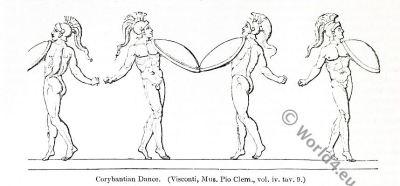 corybantian, dance, gymnopaedien. agora. sparta, ancient, roman