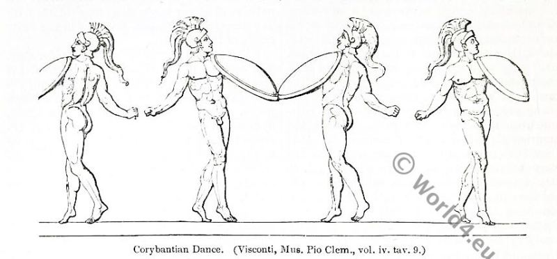 corybantian, dance, gymnopaedien, agora, sparta, ancient, roman fashion history,