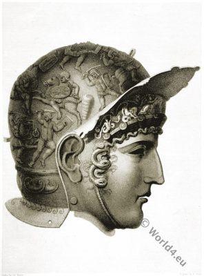 Antique Helmet. Roman Empire. Military.